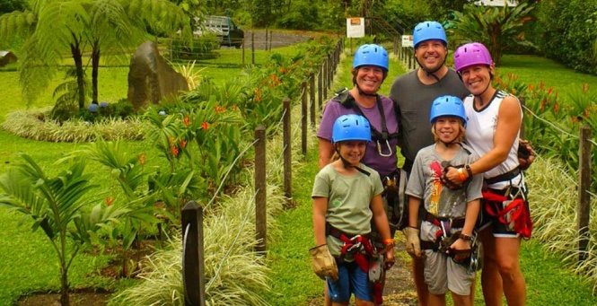 Family zipline adventure in the jungle of Belize